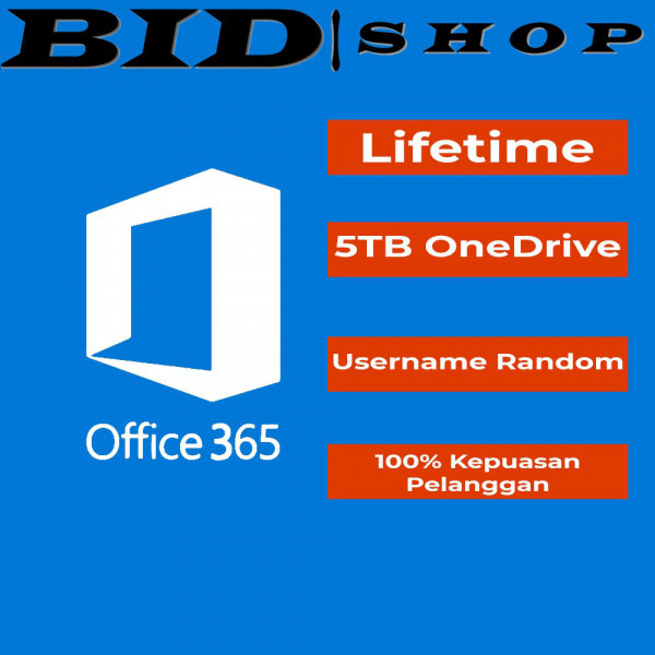 Office 365 5PC/Mac 5TB Onedrive (word,excel,dll)