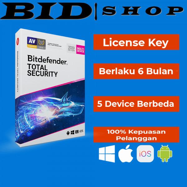 Antivirus BitDefender 2018-2020 Aktivasi Key 6 Bln