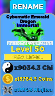 NEW PETS CYBERNETIC EMERALD DRAGON IMMORTAL LVL50