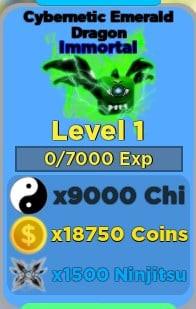 Cybernetic Emerald Dragon Immortal   Ninja Legends