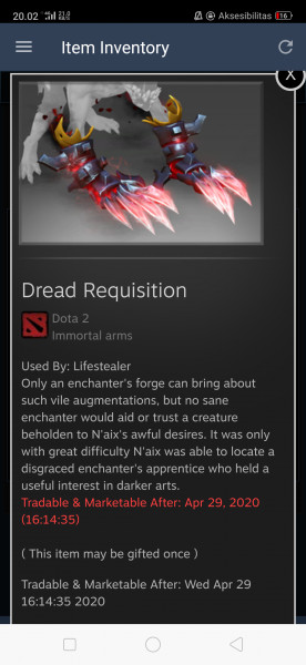 Dread Requisition (Immortal TI9 Lifestealer)