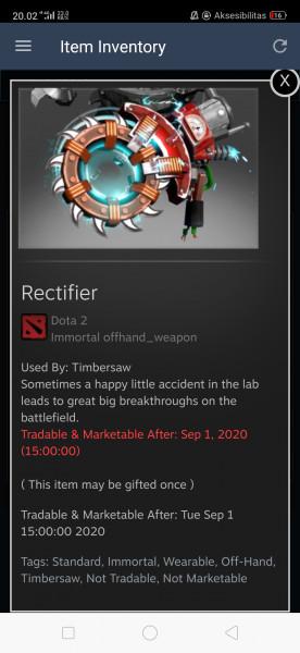 Rectifier (Immortal TI9 Timbersaw)