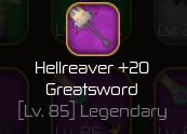 hellreaver +20 greatsword | Swordburst 2