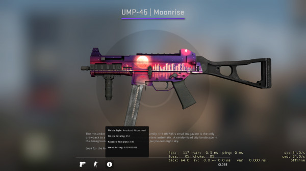 UMP-45 | Moonrise (Restricted SMG)