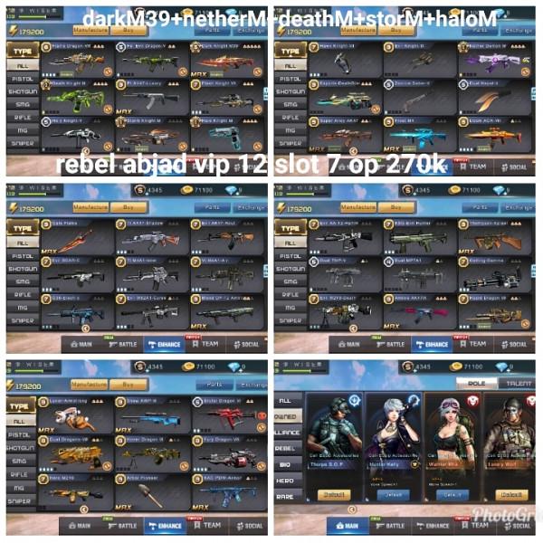 Akun game crisis action darkM39+4M