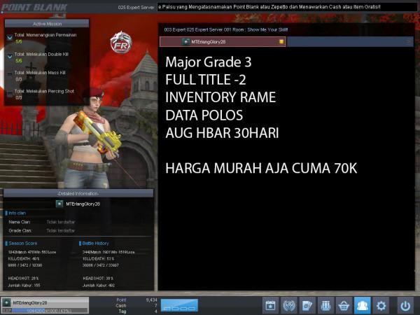 Major Grade 3 AUG HBAR 30 HARI
