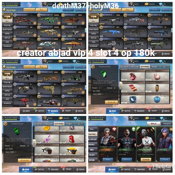 Akun game crisis action deathM37+holyM36