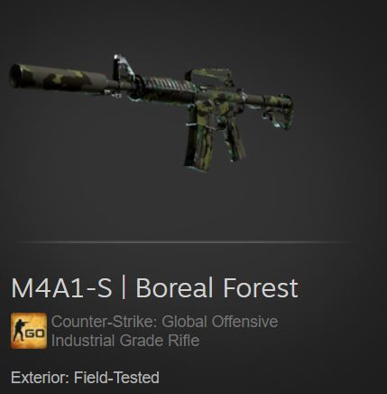 M4A1-S   Boreal Forest (Industrial Grade Rifle)