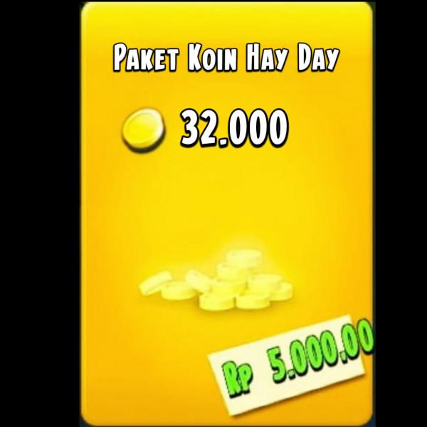 Paket 32.000 Coin HayDay