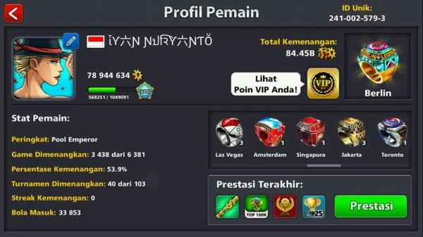 Akun Legendary 11 + Coins 1B