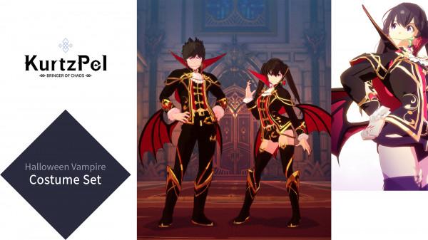 KurtzPel - Halloween Vampire Costume Set