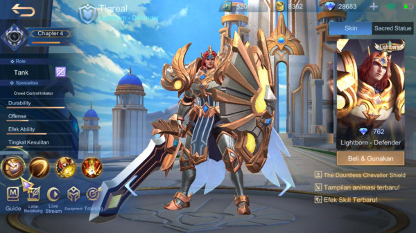 Light Born Defender ( Skin Tigreal )