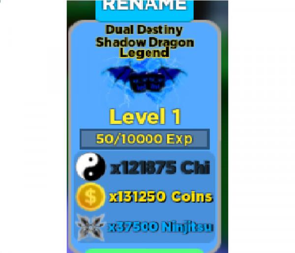 2 Dual Destiny Shadow Dragon|Legend|Ninja Legends
