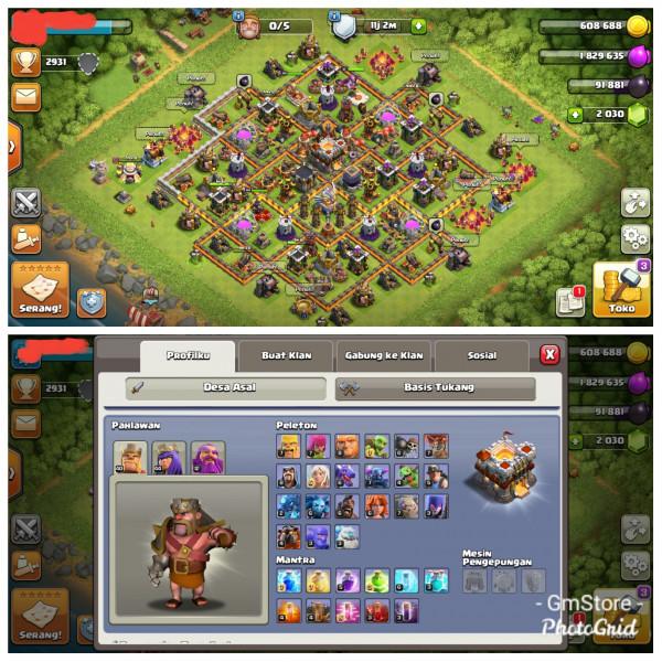 Town Hall 11|Level Hero 40/44/12|Gem 2000 GG
