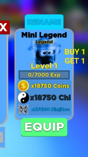[Legend] Mini Legend | Ninja Legends