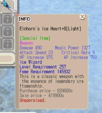 Einhorn Ice Wizard+8 normal (Unapp)