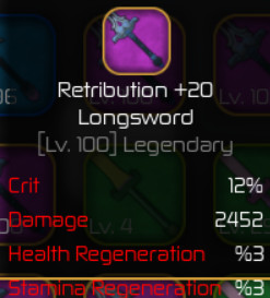 Retribution Longsword +20 ( Swordburst 2 )