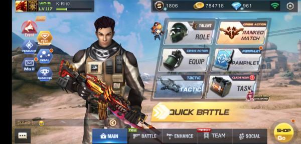 Akun Crisis Action VIP 5 + Diamond 961