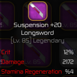 Suspension Longsword +20 ( Swordburst 2 )
