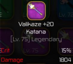 Valikaze Katana +20 ( Swordburst 2 )