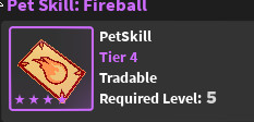 Pet skill ( Fireball ) - World Zero