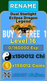 Dual Starlight Eclipse Dragon Legend Lvl 16+