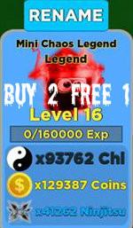Mini Chaos Legend Lvl 16+