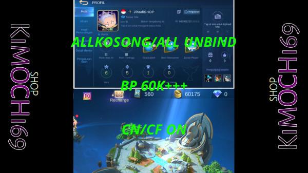 Smurf Akun BP 60K++ Cn ON