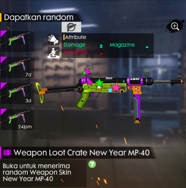 10 Crate skin Mp40 New Year