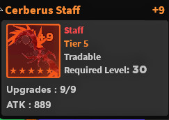 Ceberus Staff +9 - World Zero