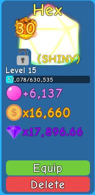 Shiny Hexarium ( Bubble Gum SImulator )