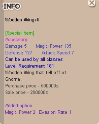 Wooden Wing +9