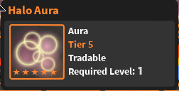 World Zero - Halo Aura [ Tier 5 ]