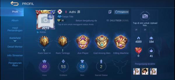 Hero 40 Skin 24 Legends V All Unbint