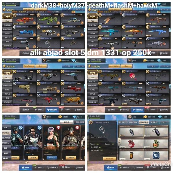 Akun game crisis action darkM38+holyM37+3M