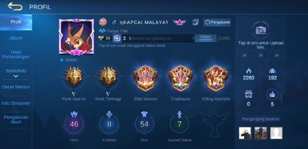 Akun Mobile Legend Murah GG (Hero + Skin Banyak)