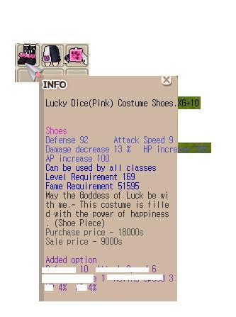 Set TBS Lucky Dice Pink XG 9/10/10 Hp HP 9 No Min