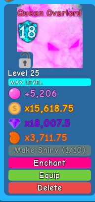 Queen Overlord ( Bubble Gum Simulator )