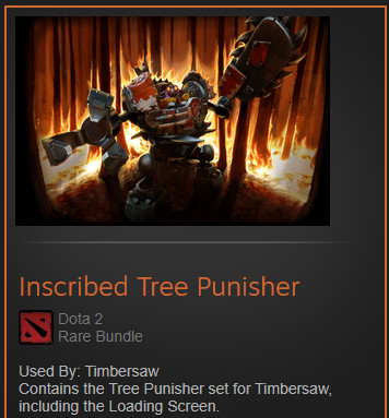 Inscribed Tree Punisher (Timbersaw Set)