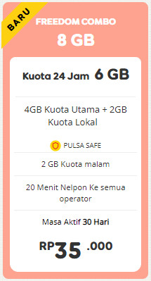 Freedom 8 GB 30 Hari