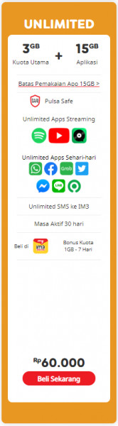 Internet Unlimited + 3 GB