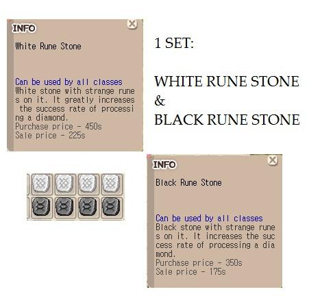 Set: WRS BRS (White Rune Stone & Black Rune Stone)