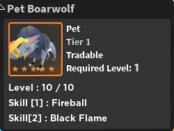Boarwolf Pet - World Zero