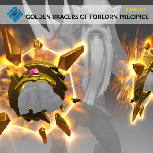 Golden Bracers of Forlorn Precipice (Immortal TI8 Dark Seer)