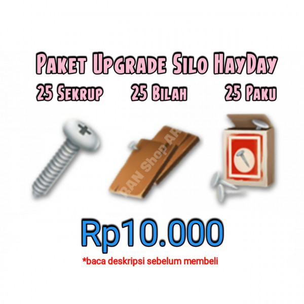 25 Set Paket Upgrade Silo HayDay
