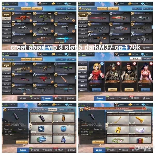 Akun game crisis action darkM37