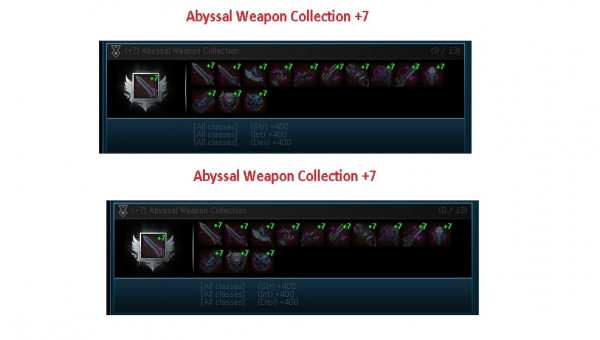 Abyssal Weapon+7 For Collection