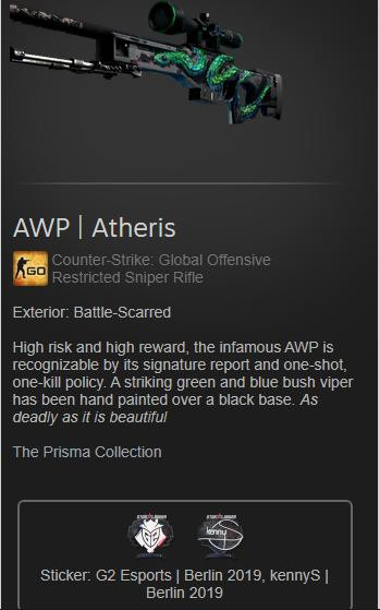 AWP | Atheris (Battle-Scared)