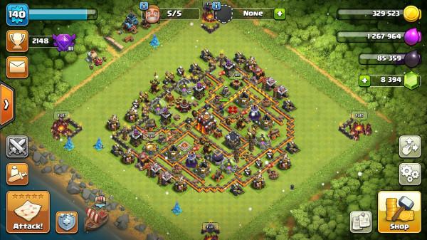 Town Hall 10 Base Mini Max + Troops Max + Gems Melimpah