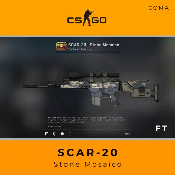 SCAR-20 | Stone Mosaico (Field-Tested)